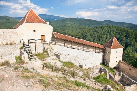 conquered: Rasnov citadel was built around the year 1215 by the Teutonic Knights, near Brasov, Romania Stock Photo