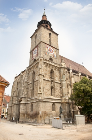 high priest: The Black Church( Biserica neagra) is the most important landmark of Brasov and the largest Gothic church between Vienna and Istanbul.  Brasov . Romania Stock Photo