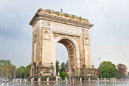 bucharest: Triumph Arch - landmark in Bucharest, Romania