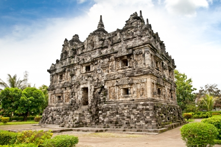 supposedly: Candi Sari  (also known as Candi Bendah) buddhist temple in Prambanan valley on  Java. Indonesia. Built around 778 a.d. it supposedly is the oldest temple among those built in the Prambanan valley on Java. Indonesia.