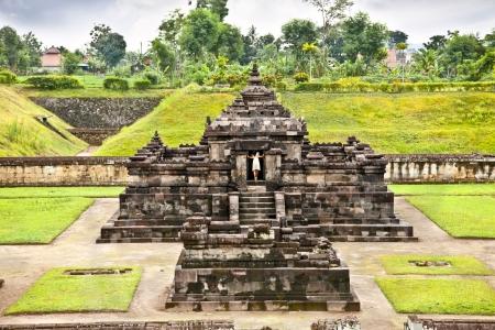 jogjakarta: Candi Sambisari the underground hindu temple on Java, indonesia.  Stock Photo