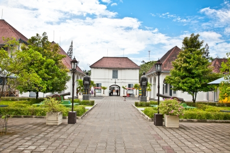 Fort Benteng Vredeburg museum in Yogyakarta on Java, Indonesia. Stock Photo - 17809094