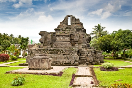 Candi Jago Temple  near by Malang on east Java, Indonesia. Stock Photo