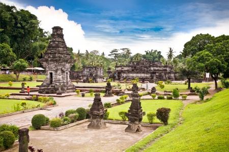 Candi Penataran temple in Blitar, east Java,  Idonesia.  Stock Photo