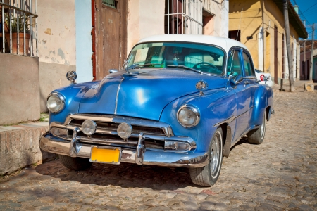 touring car: Classic car in Trinidad, Cuba.