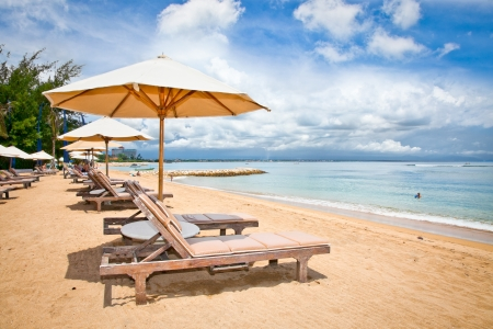 Beautiful Sanur beach on Bali, Indonesia. Banco de Imagens - 19159006