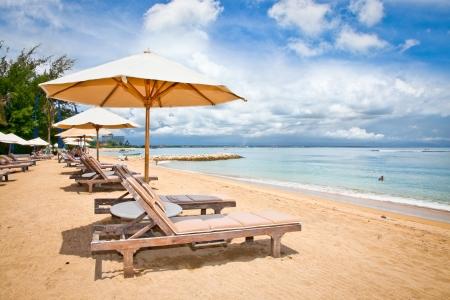 sanur: Beautiful Sanur beach on Bali, Indonesia. Stock Photo