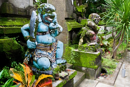 god figure: Traditional balinese warrior monster secure the gate of temple, Bali, Indonesia