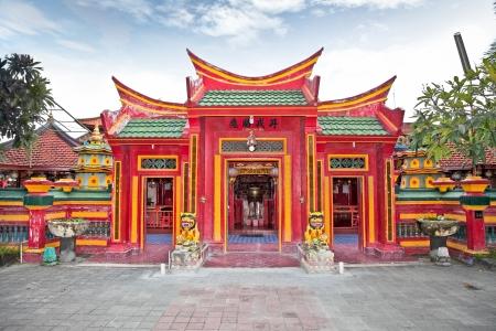 Caow Eng Bio chinese Buddhiist Temple in Tanjung Benoa near Nusa Dua, Bali, Indonesia Stock Photo