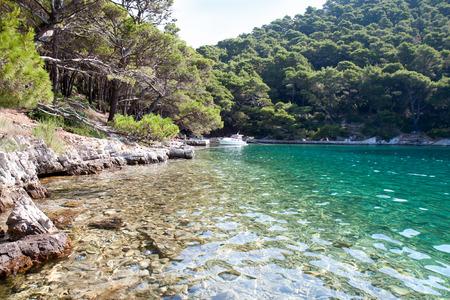 veliko: Small lake in national park on Mljet Island, Croatia  Stock Photo
