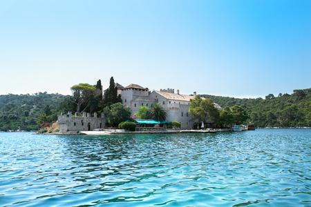 monastery nature: St. Marija  monastery on litle island in national park Mljet, Croatia