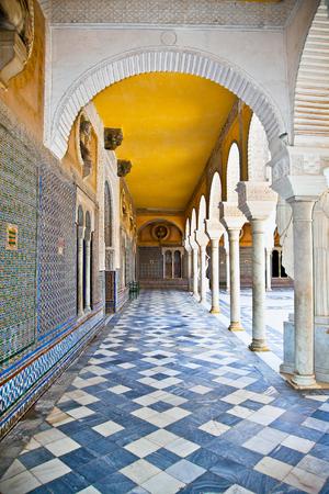 Passage of La Casa De Pilatos in Seville ,  Spain.