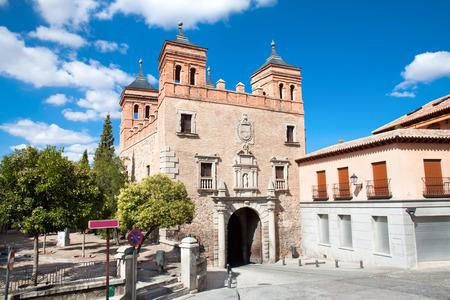 Square  Plaza de San Martin in Toledo, Spain.