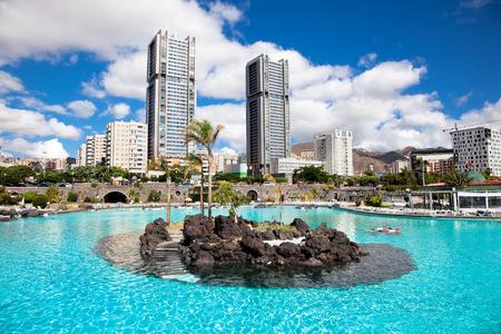 Maritimo Cesar Manrique park in Santa Cruz. Tenerife, Canary Islands, Spain