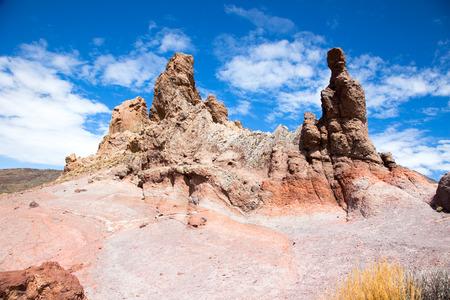 Roques de Garcia. Rock Formation in Mount Teide. Tenerife. Canary Islands. Spain