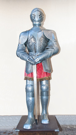 Medieval Knights armour-plate  in Toledo, Spain