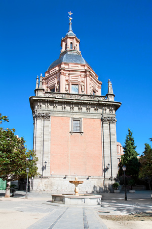 Chapel San Isidro on San Andres plaza in Madrid, Spain Editorial