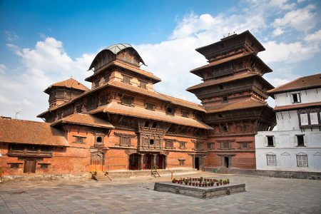 Inside of  Hanuman Dhoka, old Royal Palace, Durbar Square in Kathmandu,  Nepal. Stock Photo