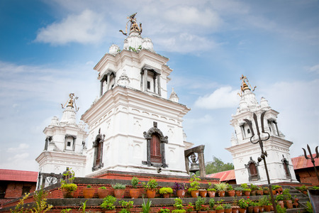 Rajrajeshwari Temple in Pashupatinath Temple complex in Kathmandu, Nepal. This is the most sacred place to all Hindus in Nepal.