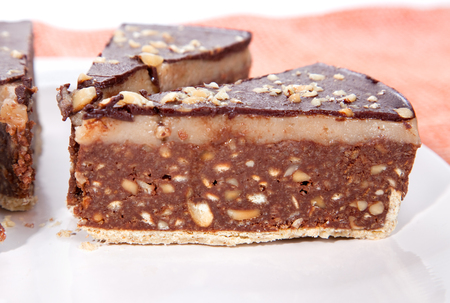 Delicious Bajadere cake with chocolate and nut
