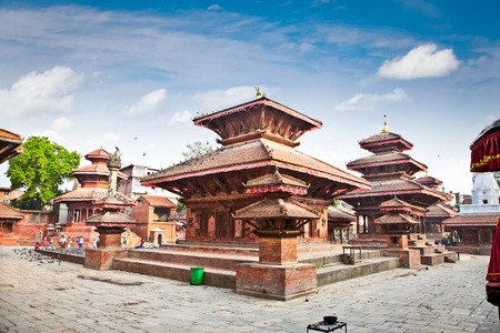 The famous Durbar square in Kathmandu valley, Nepal. 스톡 콘텐츠