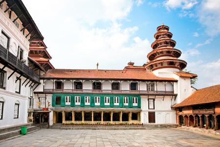 Inside of  Hanuman Dhoka, old Royal Palace, Durbar Square in Kathmandu,  Nepal. Banco de Imagens