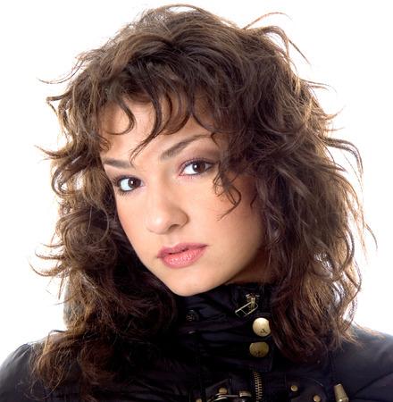 Beautiful young brunette posing