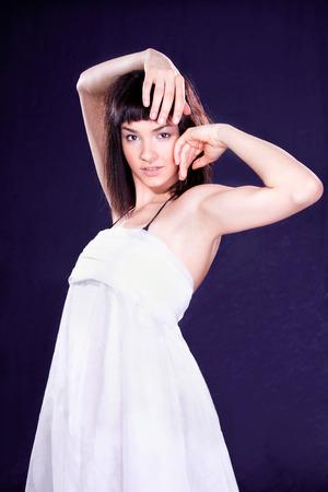 Beautiful young  brunette posing , studio shot