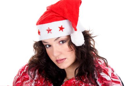 Mrs. Santa coming soon, studio shot