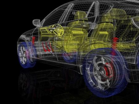 High detailed car model Фото со стока
