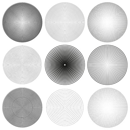 radial background: Set of Abstract vector cirles. Radial background