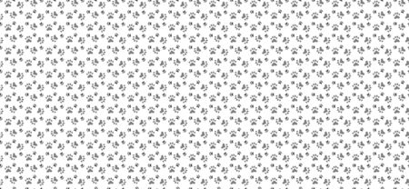 Pet paw print seamless pattern. Abstract animal vector background. For wrapping, web, and other graphic and business designs. Illustration