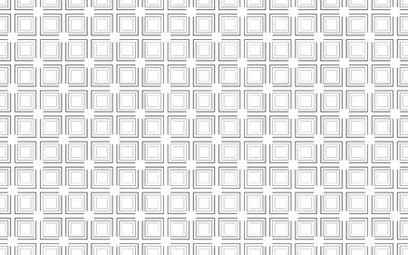 Abstract squares seamless pattern. Stroke vector background. optic illusion wave effect Çizim