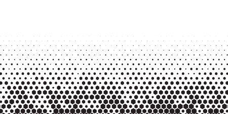 Abstract honeycomb hexagon background. Black elements on white background. Vector template for web and graphic design.