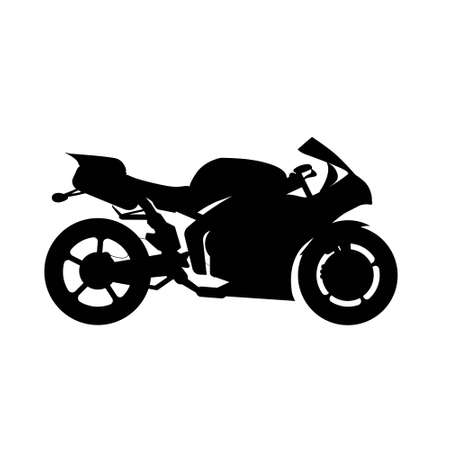 isolate vector black silhuette motorcycle on white background Vektoros illusztráció