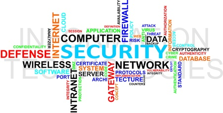 IT Security WordCloud Vectores