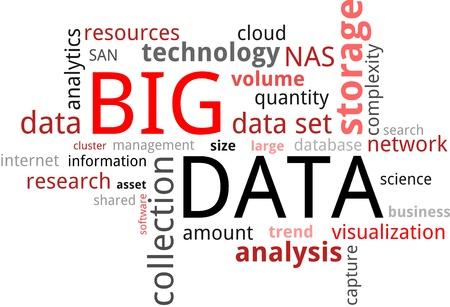 big: Una nube de palabras de datos grandes temas relacionados