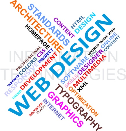 A word cloud of web design related items Stock Vector - 17775727