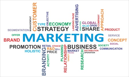 A word cloud of marketing related items Stock Vector - 17775707