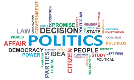 campaign promises: A word cloud of politics related items