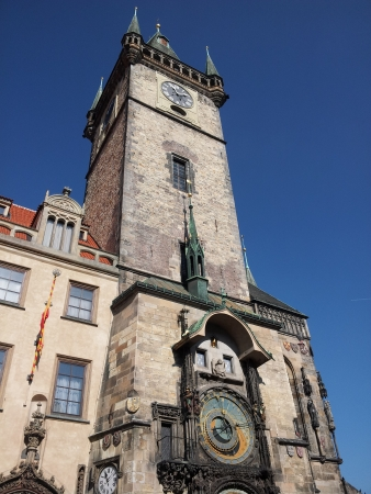 View on tower with astronomical clock photo