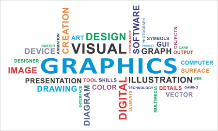 A word cloud of graphics related items Stock Vector - 19666241