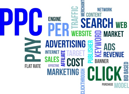 A word cloud of pay per click related items Stock Vector - 20103440