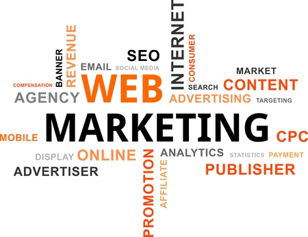 marketing online: word cloud - web marketing