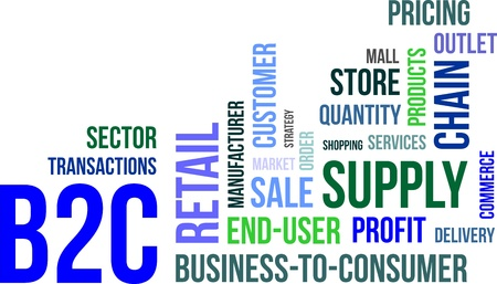 b2c: word cloud - b2c Illustration