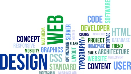 html5: A word cloud of web design related items