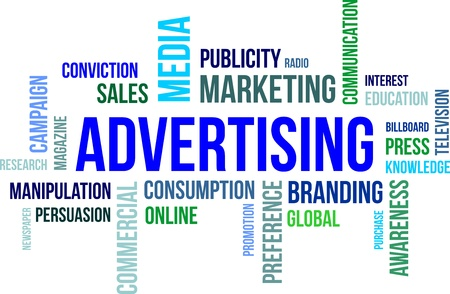 A word cloud of advertising related items Stock Vector - 21137981