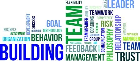Ein Wort Wolke von Team-Building zugeh?rige Artikel Illustration