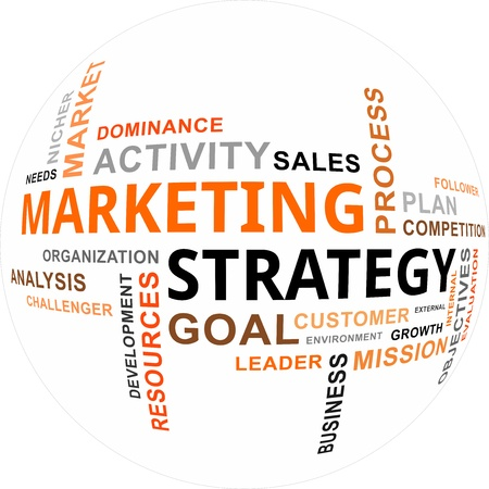 A word cloud of marketing strategy related items Stock Vector - 23042101