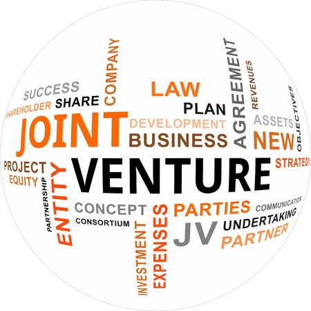 venture: A word cloud of joint venture related items